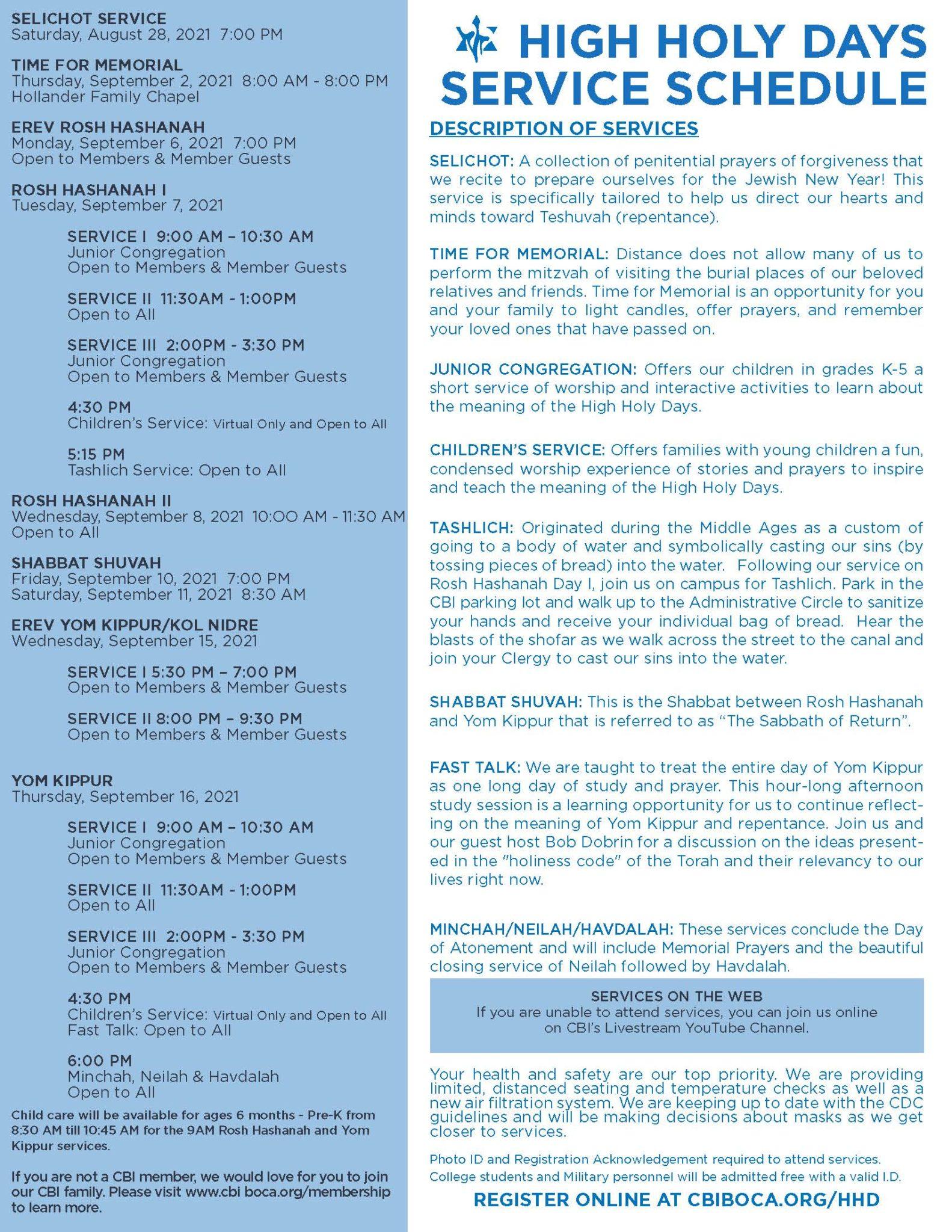 HHD5782 ServiceSchedule SinglePage